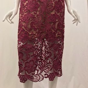 Dress the Population Dresses - Dress the Population Mulberry Pink Lace Dress M